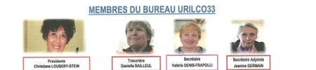 MEMBRES DU BUREAU URILCO33